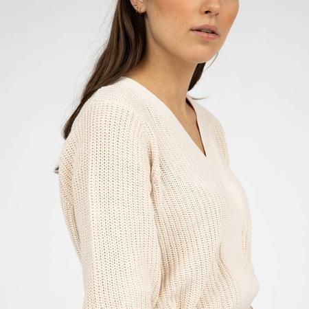 Baumwoll-Pullover mit Rippstruktur