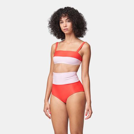 Zweifarbiger Highwaist-Bikini von Nathalie Schweizer