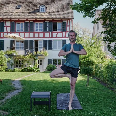 Yogamatte Black Marble Luviyo