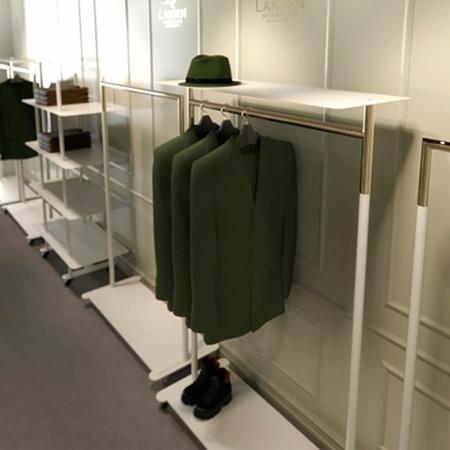 Kleiderständer Bukto mit Ablage