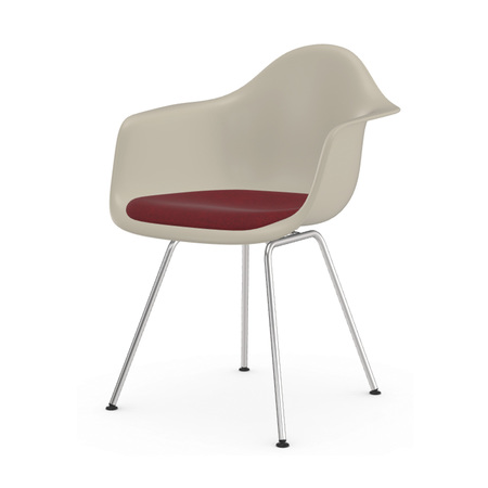 Vitra Charles und Ray Eames Eames Plastic Armchair DAX Stahlrohruntergestell Polster