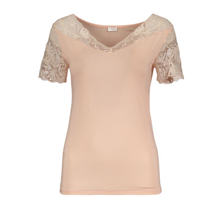 Model T-Shirt von 'Zimmerli' in Blush