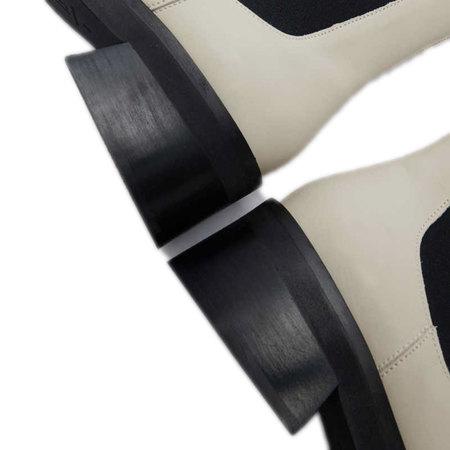 Heller Anklebloot von E8 by Miista in Cream