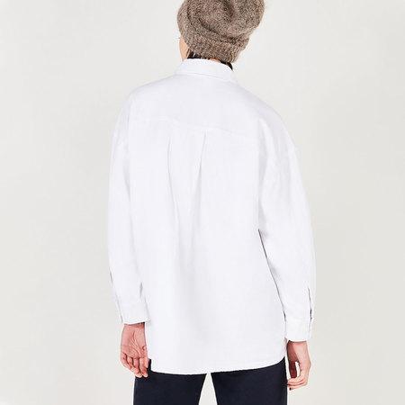 Weisse Baumwoll-Hemdbluse von American Vintage