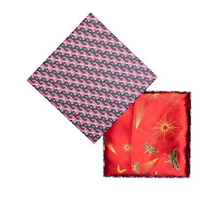 Roter Seidenschal von 'Becksöndergaard' mit Geschenkbox