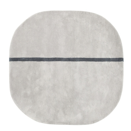 Oona carpet 140x140 grey 1