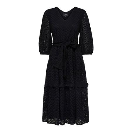 Schwarzes Midi Kleid von 'Selected'