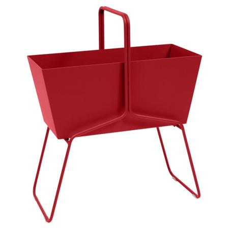 Fermob Blumenkasten 'Basket'  Mohnrot 67,  Hoch