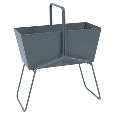 Fermob Blumenkasten 'Basket'  Gewittergrau 26,  Hoch