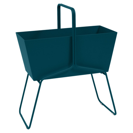 Fermob Blumenkasten 'Basket'  Acapulcoblau 21,  Hoch