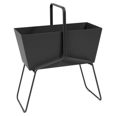 Fermob Blumenkasten 'Basket'  Lakritze / Schwarz 42,  Hoch
