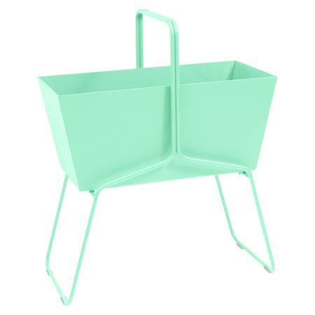 Fermob Blumenkasten 'Basket'  Opalgrün 83,  Hoch