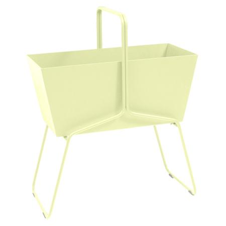 Fermob Blumenkasten 'Basket'  Zitronensorbet A6,  Hoch