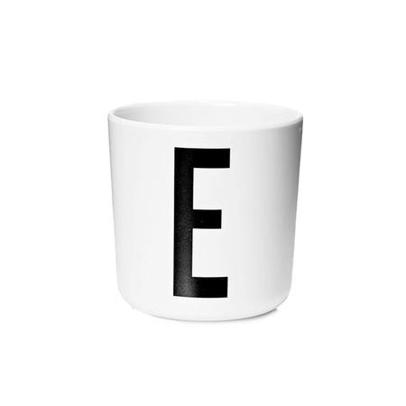 Design Letters Persönlicher Porzellan-Becher von A-Z 'Design Letters'  E
