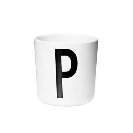 Design Letters Persönlicher Porzellan-Becher von A-Z 'Design Letters'  P