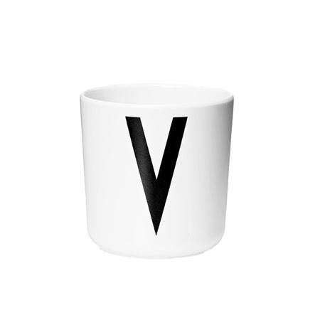 Design Letters Persönlicher Porzellan-Becher von A-Z 'Design Letters'  V