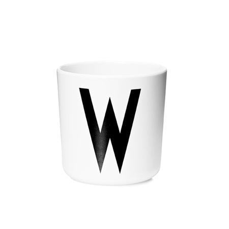 Design Letters Persönlicher Porzellan-Becher von A-Z 'Design Letters'  W