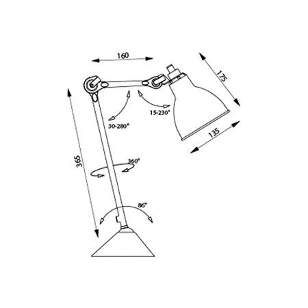 Produkt lampe gras technicalsheet
