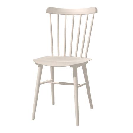Ton Stuhl im Retro-Stil für den Esstisch  Eiche White Powder (B 276),  Helle Kunststoffgleiter