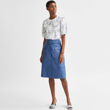 Selected Femme Blauer Lederjupe von 'Selected'