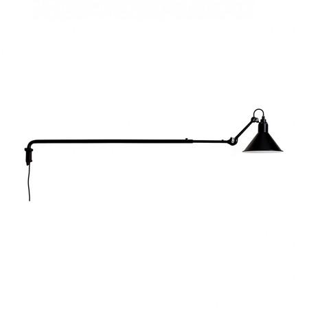 DCW Éditions Kegelförmige Wandleuchte 'Lampe Gras N°213' Schwarz-Schwarz, Kegelförmig