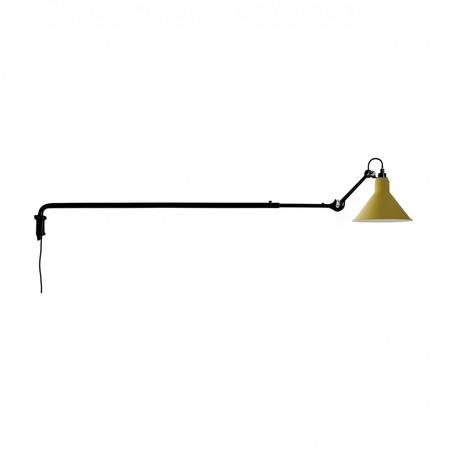 DCW Éditions Kegelförmige Wandleuchte 'Lampe Gras N°213' Schwarz-Gelb, Kegelförmig