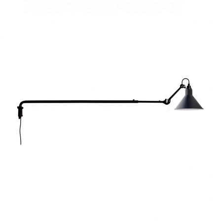 DCW Éditions Kegelförmige Wandleuchte 'Lampe Gras N°213' Schwarz-Blau, Kegelförmig