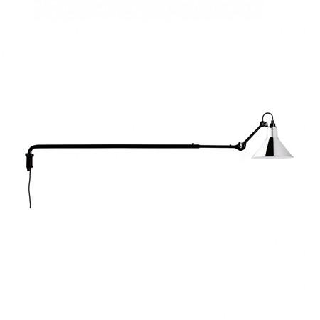 DCW Éditions Kegelförmige Wandleuchte 'Lampe Gras N°213' Schwarz-Chrom, Kegelförmig