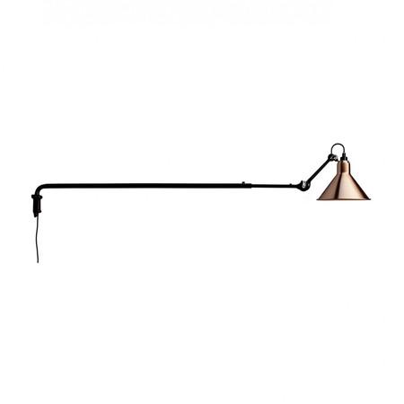 DCW Éditions Kegelförmige Wandleuchte 'Lampe Gras N°213' Schwarz-Kupfer-Weiss, Kegelförmig