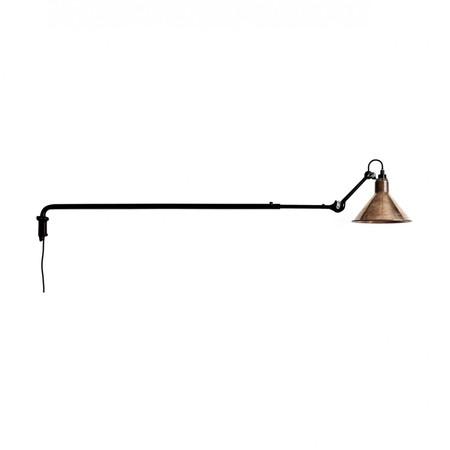 DCW Éditions Kegelförmige Wandleuchte 'Lampe Gras N°213' Schwarz-Kupfer-Roh-Weiss, Kegelförmig