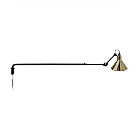 DCW Éditions Kegelförmige Wandleuchte 'Lampe Gras N°213' Schwarz-Messing, Kegelförmig