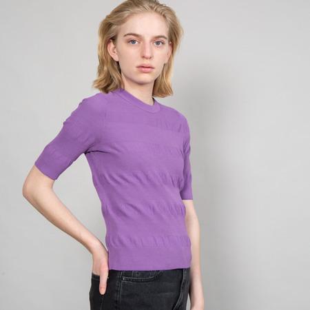 Strick Shirt mit Struktur von 'Franziska Lüthy' in Violet