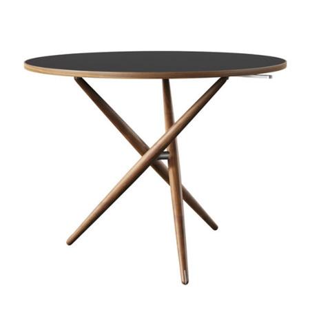 Horgenglarus 'Ess.Tee.Tisch'  Schwarznuss / Linoleum Schwarz