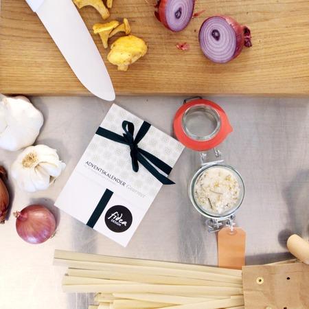Gourmet adventskalender for Design tisch adventskalender
