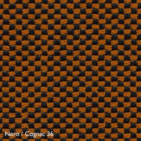 Vitra Farbkachel Nero / Cognac 36