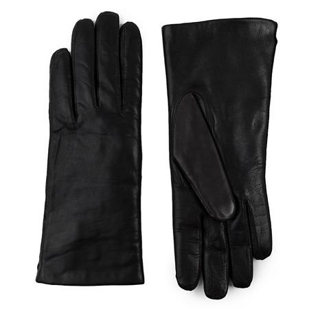 Fellgefütterte Lederhandschuhe schwarz 1