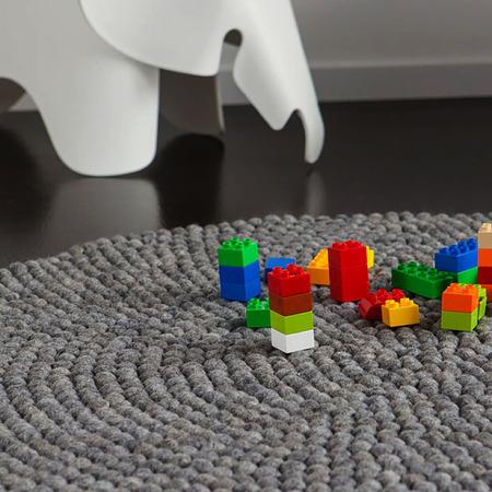 Teppich rund grau filz  Teppich aus Filz