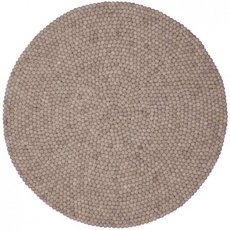 Myfelt filzkugel teppich naturlinie bela hellgrau 1