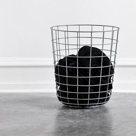 Chrome wire basket in situ