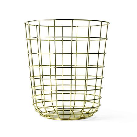 Menu wire bin in brass
