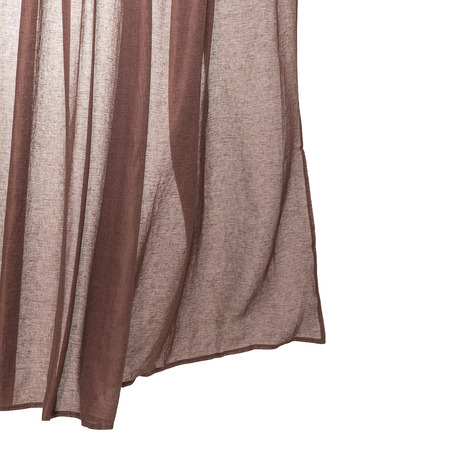 Extra wide linen ready made curtains rust brown zigzagzurich 4915 low