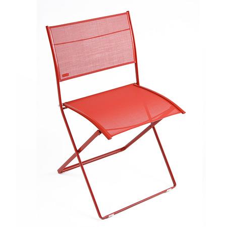 Plein air chaise coquelicot
