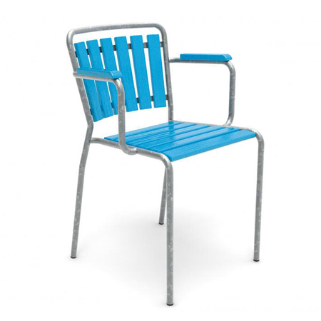 Embru haefeli gartensessel blau 1021