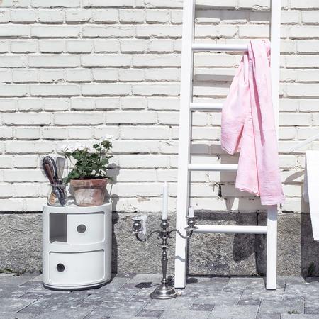 deko leiter holz in weiss. Black Bedroom Furniture Sets. Home Design Ideas