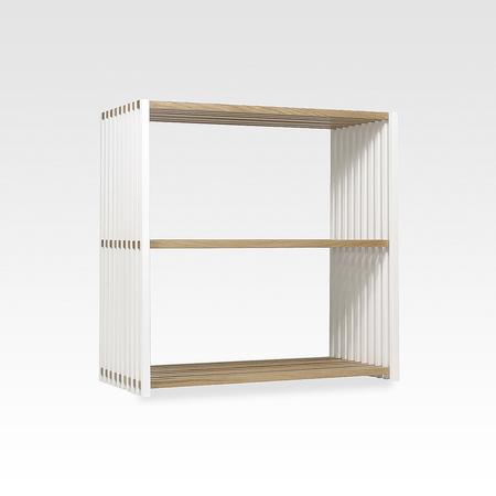 eichen regal 39 rebar 39 schmal. Black Bedroom Furniture Sets. Home Design Ideas