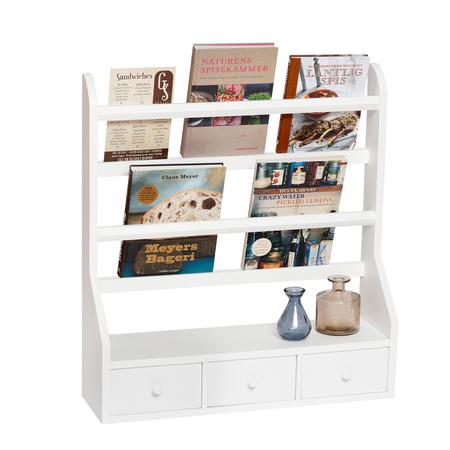 wand tellerregal mit 3 schubl dli. Black Bedroom Furniture Sets. Home Design Ideas