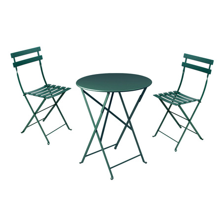 bistro set gartentisch rund mit 2 st hlen. Black Bedroom Furniture Sets. Home Design Ideas