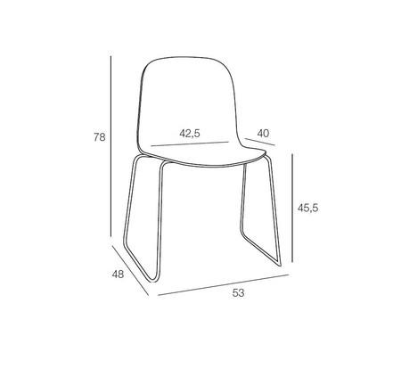 Muuto visu chair wire base dimensionfile