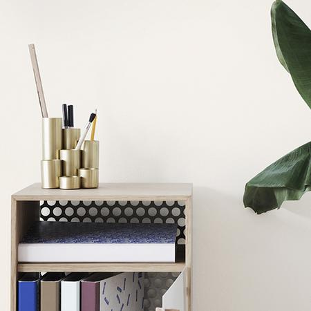 Ferm Living Pencil Holder Messing Stiftehalter