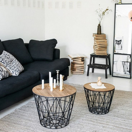 ferm living wire basket korb schwarz s design. Black Bedroom Furniture Sets. Home Design Ideas